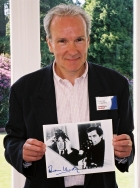 Thomas Wheatley with autographed photo at Pinewood.