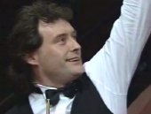Jimmy White after making a 147 break in the 1992 World Championships in Sheffield