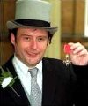 Jimmy White after receiving his MBE