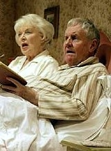 June Whitfield & Richard Briers in Alan Ayckbourn's West End production of 'Bedroom Farce'