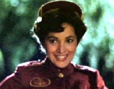 Jane Wiedlin as the ill-fated singing telegram girl in 'Clue'