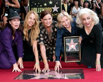 The Go-Go's with their star on the Hollywood Walk of Fame