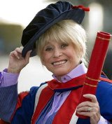 Barbara Windsor received an honorary doctorate from the University of East London (2014)