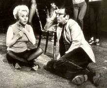 Barbara Windsor with Lionel Bart in rehearsal for 'Twang!!'