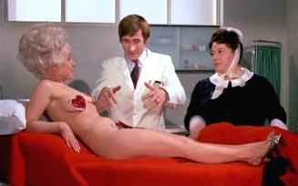 Barbara Windsor, Jim Dale & Hattie Jacques in 'Carry On Again Doctor' (1969)