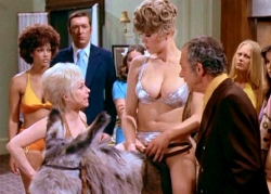 Barbara Windsor, Margaret Nolan & Sid James in 'Carry On Girls' (1973)