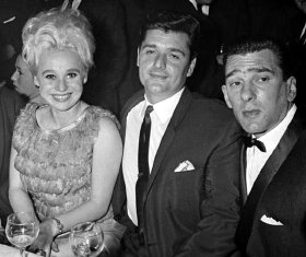 Barbara Windsor with her first husband Ronnie Knight and Reggie Kray