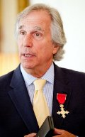 Henry Winkler with his OBE