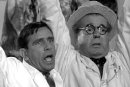 Norman Wisdom & Edward Chapman in 'A Stitch in Time'