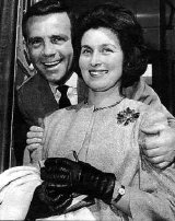 Norman Wisdom with his ex-wife Freda