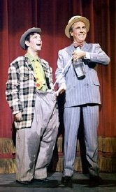 Norman Wisdom with Jason Robards in 'The Night They Raided Minsky's'