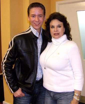 Lana Wood with Ciaran Brown