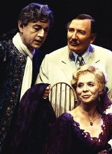 Petr Egan, Leslie Phillips and Susannah York in 'Camino Real'
