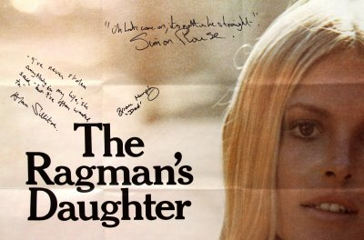 Poster for The Ragman's Daughter - signed by Alan Sillitoe, Brian Murphy & Simon Rouse