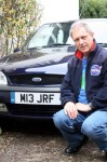 John Fletcher with his personalised number plate
